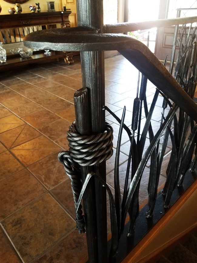 More Hand Forged Twig Railing